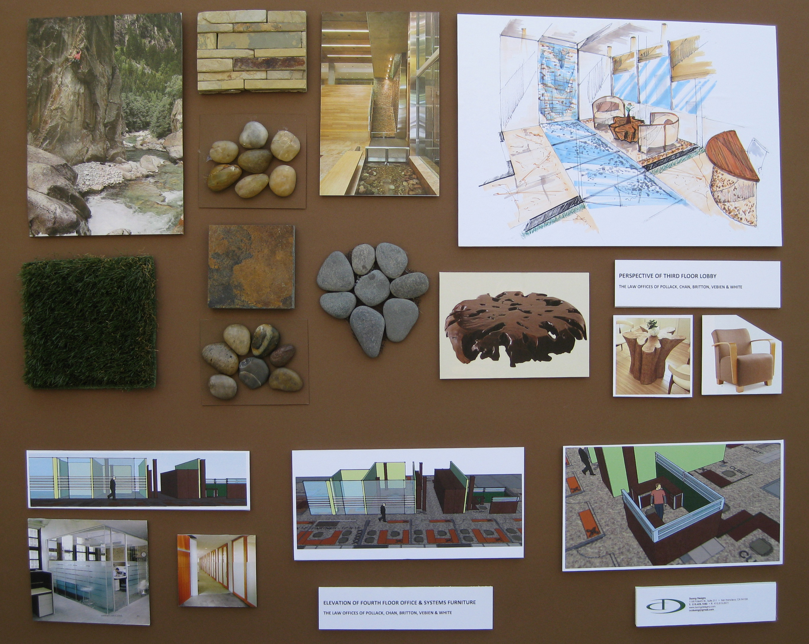 Interior Design Concept Development Boards